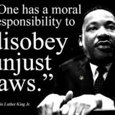 Disobey unjust laws