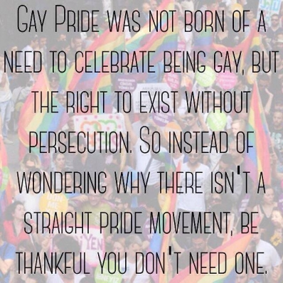 Thanks God we have Gay Pride
